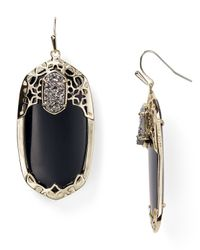 Kendra Scott | Black Deva Earrings | Lyst