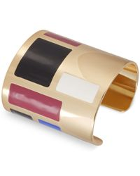 French Connection | Multicolor Gold-tone Colorblock Cuff Bracelet for Men | Lyst