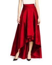 Adrianna Papell | Red Hi-lo Ballroom Skirt | Lyst