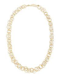 R.j. Graziano - Metallic Golden Multi-ring Necklace - Lyst