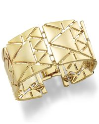 Lauren by Ralph Lauren - Metallic Gold-Tone Triangle Link Bracelet - Lyst