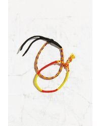 Urban Outfitters - Orange Friendship Bracelet Set - Lyst