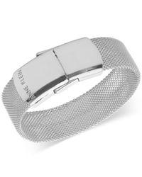 Anne Klein - Metallic Silver-tone Mesh Usb Flash Drive Bracelet - Lyst