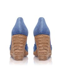 Castaner | Blue Tulsa 8 High Wedge Heel Peep Toe Court | Lyst