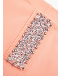 Mango - Pink Metal Beads Top - Lyst