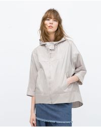 Zara | Gray Water Resistant Jacket | Lyst