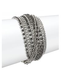 ABS By Allen Schwartz | Metallic Beaded Multi-row Chain Bracelet | Lyst