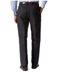 Dockers | Black D3 Classic Fit Signature Khaki Striped Flat-front Pants for Men | Lyst