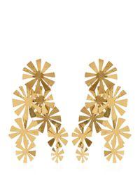 Herve Van Der Straeten - Metallic Boucles D'Oreille Fleurs Earrings - Lyst