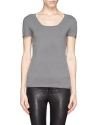 Armani - Gray Jersey Top - Lyst
