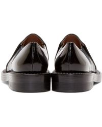 Marni - Black And Gold Slip-on Mocasins - Lyst