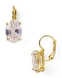 kate spade new york | Metallic Draped Jewels Oval Drop Earrings | Lyst