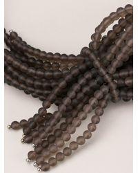 Brunello Cucinelli | Gray Multi Strand Necklace | Lyst