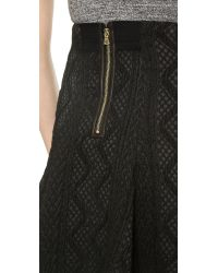 Alice + Olivia - Alice Olivia Sibel Fit and Flare Skirt Black - Lyst