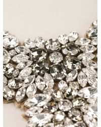 Valentino - Metallic Embellished Bib Necklace - Lyst