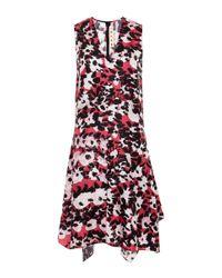 Marni | Multicolor Asymmetric Printed Silk-twill Dress | Lyst