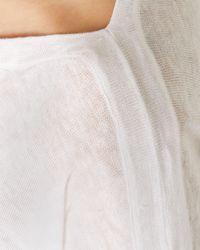 Jaeger | White Linen Pin Tuck Detail Blouse | Lyst