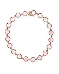 Irene Neuwirth | Pink Rose De France & Rose Gold Bracelet | Lyst