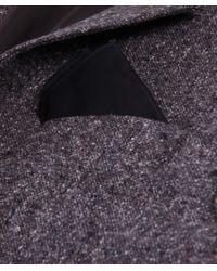 Jules B - Black Plain Poplin Shirt W/ Pocket Square for Men - Lyst