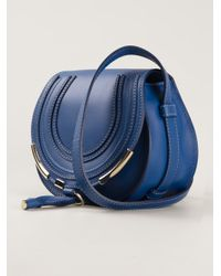 Chloé - Blue Marcie Cross Body Bag - Lyst
