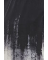 Vince - Black Brush Shadow Print Top - Lyst