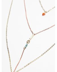 Free People | Orange Womens Waterfalls Necklace | Lyst