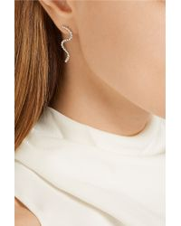 Arme De L'Amour - Metallic Small Wave Silver-plated Earrings - Lyst
