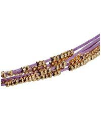 ASOS - Purple Bead Friendship Bracelet - Lyst