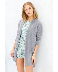 Silence + Noise | Gray Brushed Cardigan | Lyst