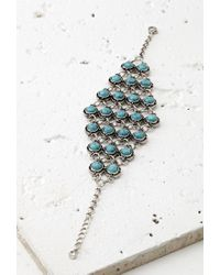 Forever 21 - Blue Faux Turquoise Bracelet - Lyst