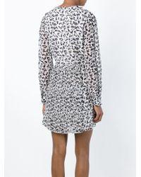 See By Chloé Black Printed Mini Dress