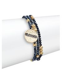 Cara | Metallic 'blessed' Beaded Bracelet Set | Lyst