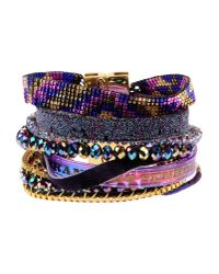 Hipanema | Purple Embellished Cuff | Lyst