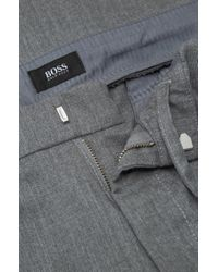 BOSS - Gray 'rice' | Slim Fit, Virgin Wool Blend Pants for Men - Lyst