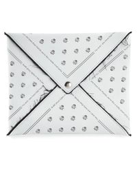 MM6 by Maison Martin Margiela - White Printed Envelope Clutch - Lyst