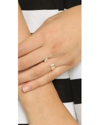 Vita Fede - Metallic 3 Marquis Ring - Gold/clear - Lyst