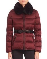 Burberry Brit | Purple Redbourne Fur-collar Puffer Coat | Lyst