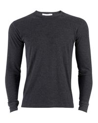 Sunspel - Gray Men's Long Sleeve Thermal T-shirt - Lyst