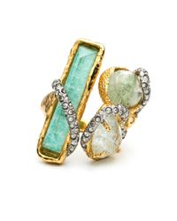 Alexis Bittar | Blue Moonlight Stacked Cocktail Ring | Lyst