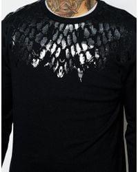 ASOS - Sweatshirt With Snake Yoke Print - Black for Men - Lyst