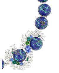 Shourouk - Marble Blue Necklace - Lyst