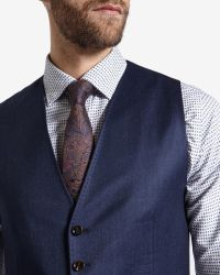 Ted Baker - Blue Deluxe Cashmere-blend Waistcoat for Men - Lyst