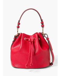 Violeta by Mango | Red Pebbled Bucket Bag | Lyst