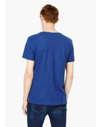 Mango | Blue Pocket Cotton T-shirt for Men | Lyst