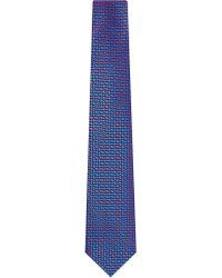 Charvet | Blue Abstract Zigzag Silk Tie - For Men for Men | Lyst