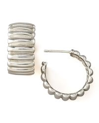 John Hardy - Metallic Bedeg Silver Hoop Earrings - Lyst
