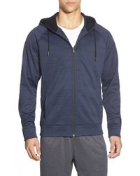 BPM Fueled by Zella - Blue 'celsian' Moisture Wicking Full Zip Running Hoodie for Men - Lyst