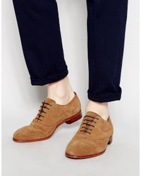 Ted Baker | Brown Luhwice Suede Oxford Shoes for Men | Lyst