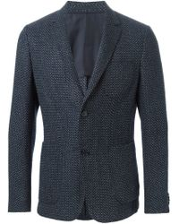 Z Zegna - Blue Two Button Blazer for Men - Lyst