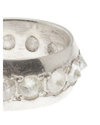 Stones Of Character - Metallic White Diamond Spike Ring - Lyst